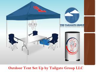 Tent Set Up For Football Match