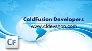 ColdFusion Developers