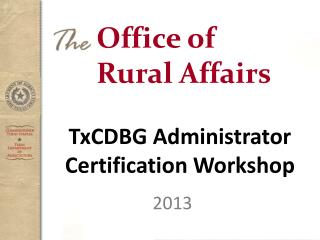 Office of Rural Affairs
