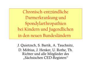 Chronisch-entz ndliche Darmerkrankung und Spondylarthropathien                         bei Kindern und Jugendlichen
