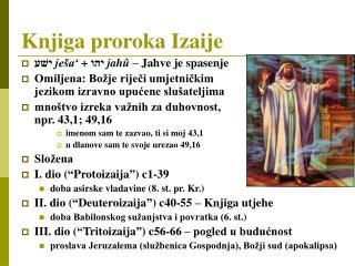 Knjiga proroka Izaije