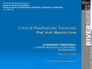 Facolt� di Architettura di Palermo Corso di Laurea in Architettura