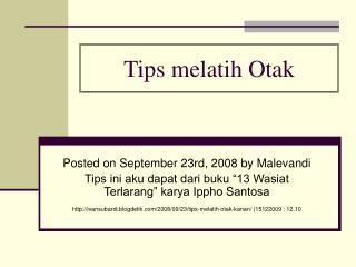 Tips melatih Otak