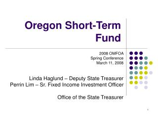 Oregon Short-Term Fund