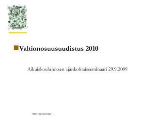 Valtionosuusuudistus 2010