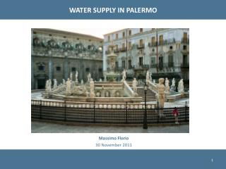 WATER SUPPLY IN PALERMO