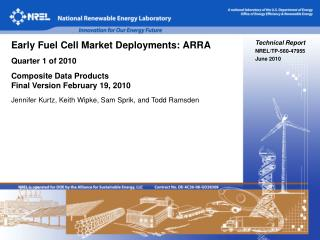 Technical Report NREL/TP-560-47955 June 2010