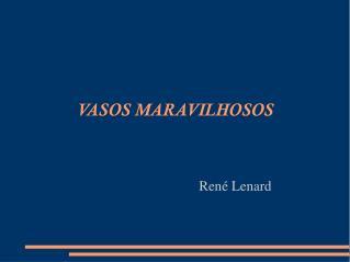 VASOS MARAVILHOSOS