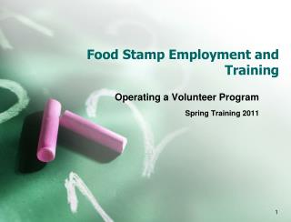 Food Stamp Employment and Training