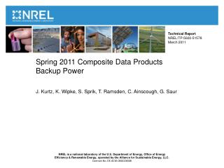 Spring 2011 Composite Data Products Backup Power