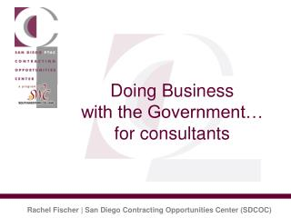 Doing Business  with the Government� for consultants