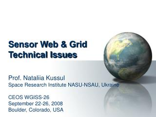 Sensor Web & Grid Technical Issues