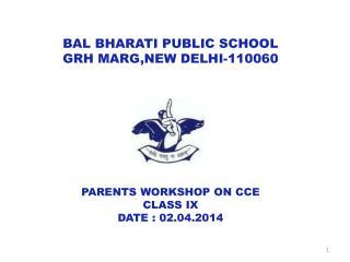 BAL BHARATI PUBLIC SCHOOL GRH MARG,NEW DELHI-110060