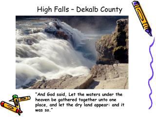 High Falls � Dekalb County