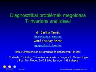 Diagnosztikai problémák megoldása T-invariáns analízissel