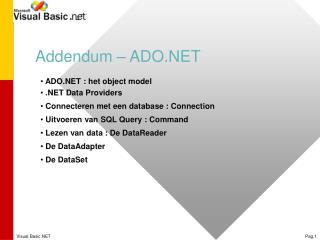 Addendum – ADO.NET