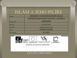 ISLÁM A JEHO PILÍŘE