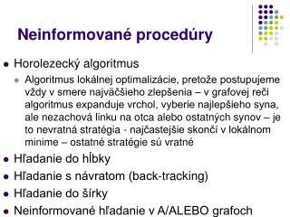 Neinformované procedúry