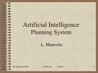 Artificial Intelligence Planning System