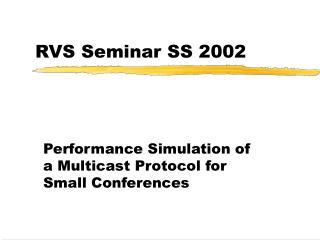 RVS Seminar SS 2002