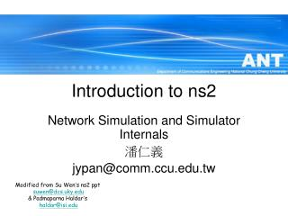 Introduction to ns2
