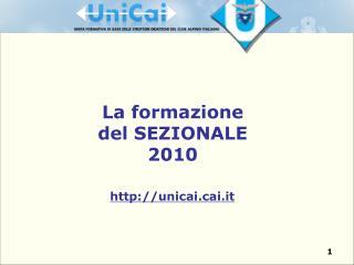La formazione  del SEZIONALE 2010