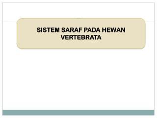 SISTEM SARAF PADA HEWAN VERTEBRATA
