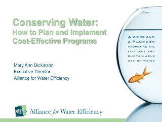 Conserving Water:   How to Plan and Implement Cost-Effective Programs