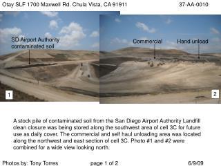 Otay SLF 1700 Maxwell Rd. Chula Vista, CA 9191137-AA-0010