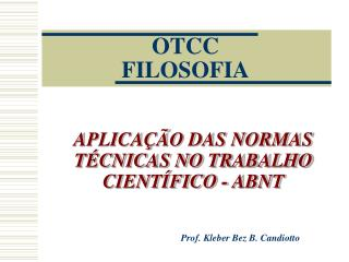 OTCC FILOSOFIA