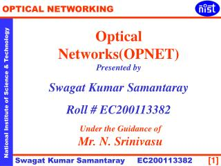 Optical Networks(OPNET)