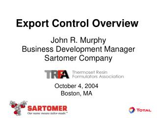 Export Control Overview
