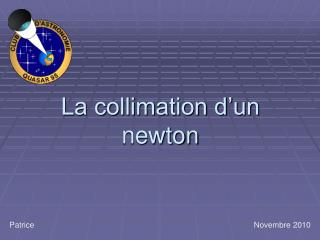La collimation d'un newton