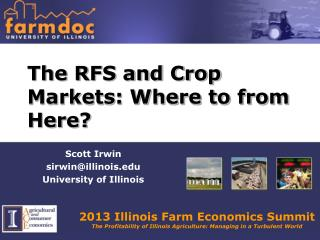 The RFS and Crop Markets: Where to from Here?