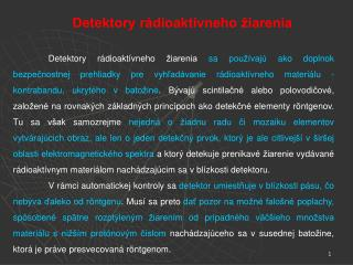 Detektory rádioaktívneho žiarenia