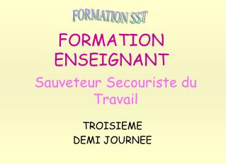 FORMATION ENSEIGNANT
