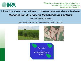 L'insertion à venir des cultures biomasses pérennes dans le territoire
