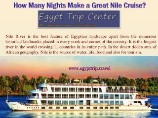 How Many Nights Make a Great Nile Cruise
