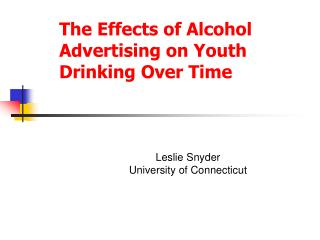 The Effects of Alcohol Advertising on Youth Drinking Over Time