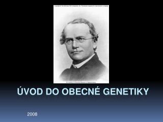 Úvod do obecné genetiky