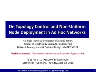On Topology Control and Non-Uniform Node Deployment in Ad Hoc Networks