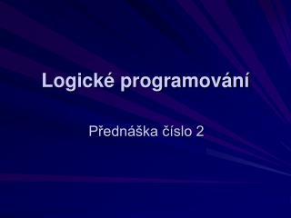 Logické programování