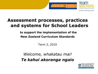 Assessment processes, practices and systems for School Leaders