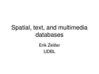 Spatial, text, and multimedia databases