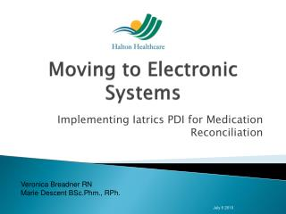 Moving to Electronic Systems