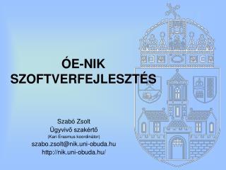 ÓE-NIK SZOFTVERFEJLESZTÉS