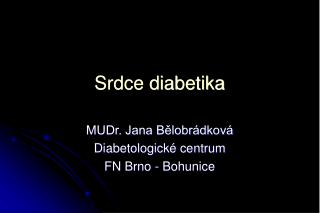 Srdce diabetika