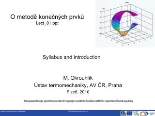 O metod ě konečných prvků Lect_01
