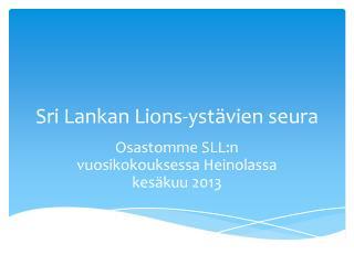 Sri Lankan Lions-ystävien seura