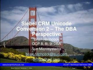 Siebel CRM Unicode Conversion 2 � The DBA Perspective